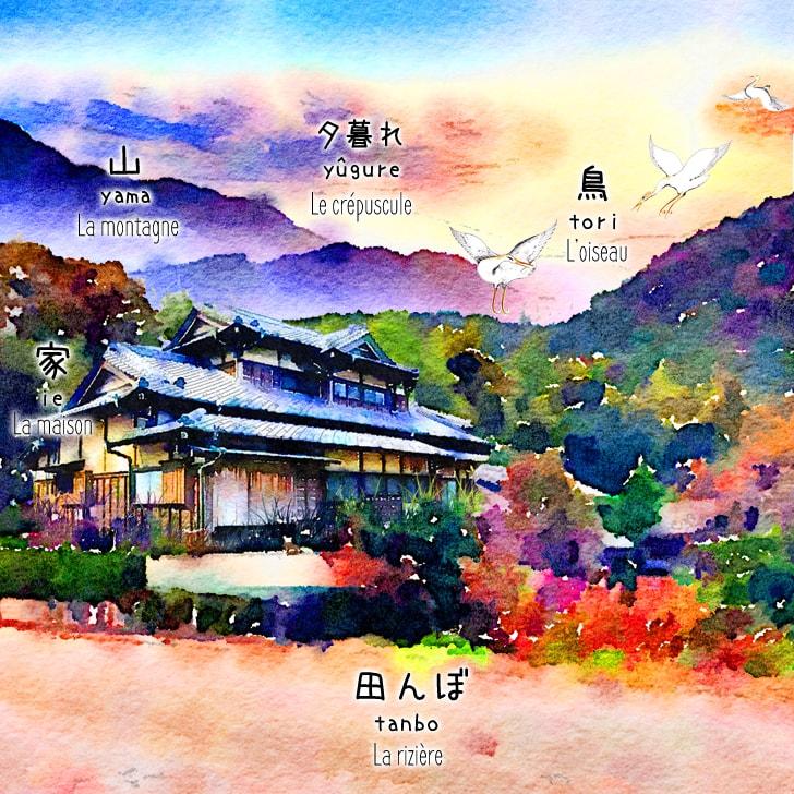 Le coucher de soleil à Kyôto