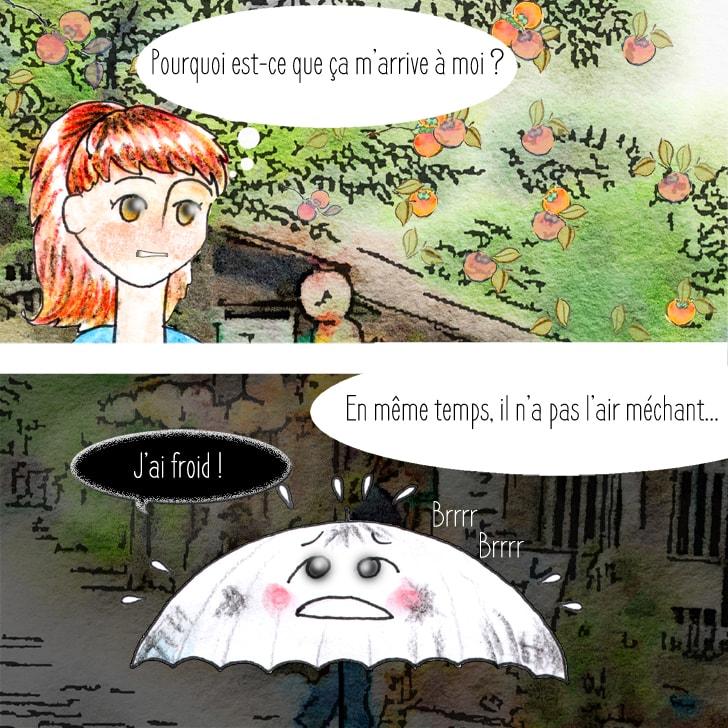 Cléa a pitié du parapluie fantôme