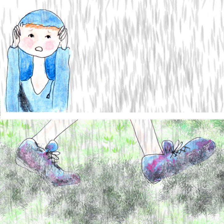 Marcher sous la pluie sans parapluie