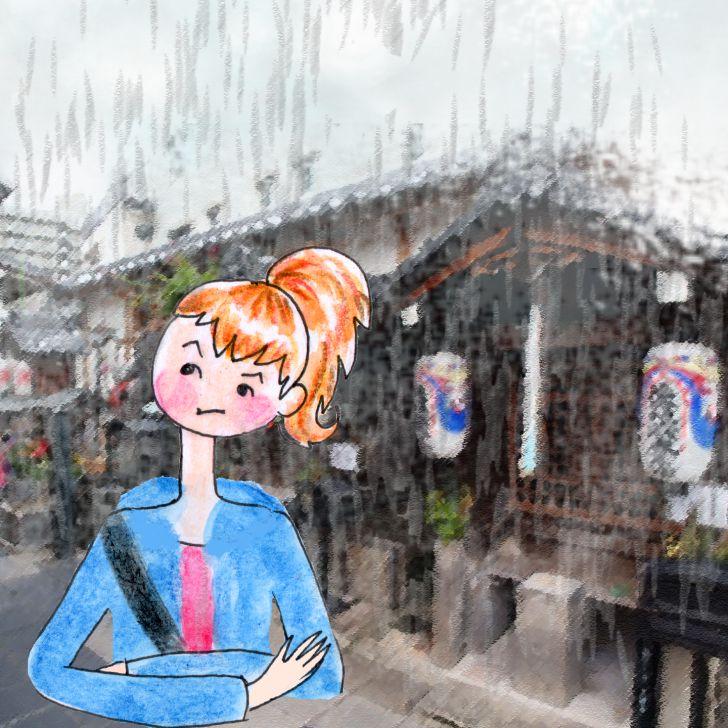 Cléa est perdue dans la rue à Uji