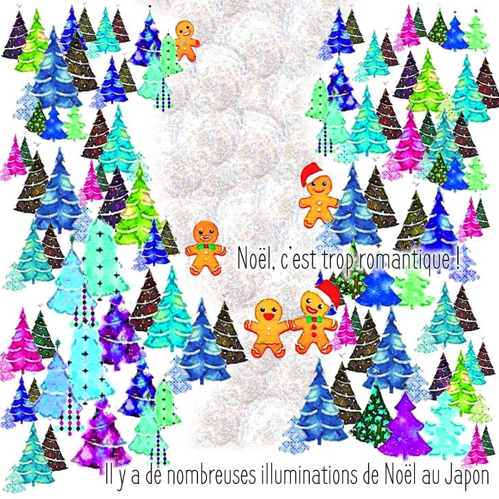 Les illuminations romantique de Noël à Tokyo