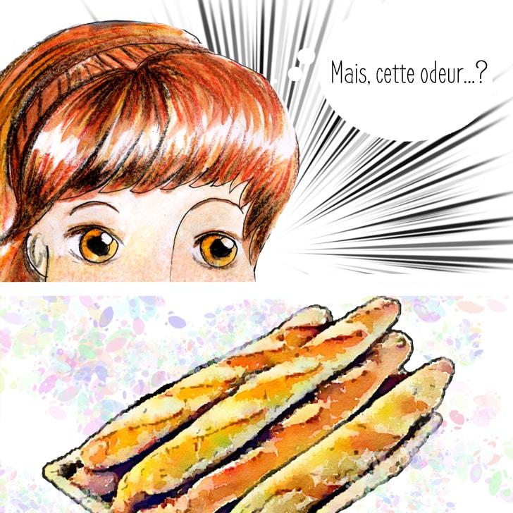 La bonne odeur de pain parvient aux narines de Cléa