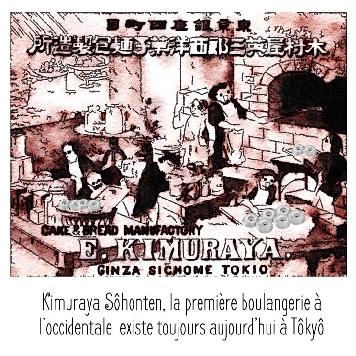 La première boulangerie au japon Kimuraya