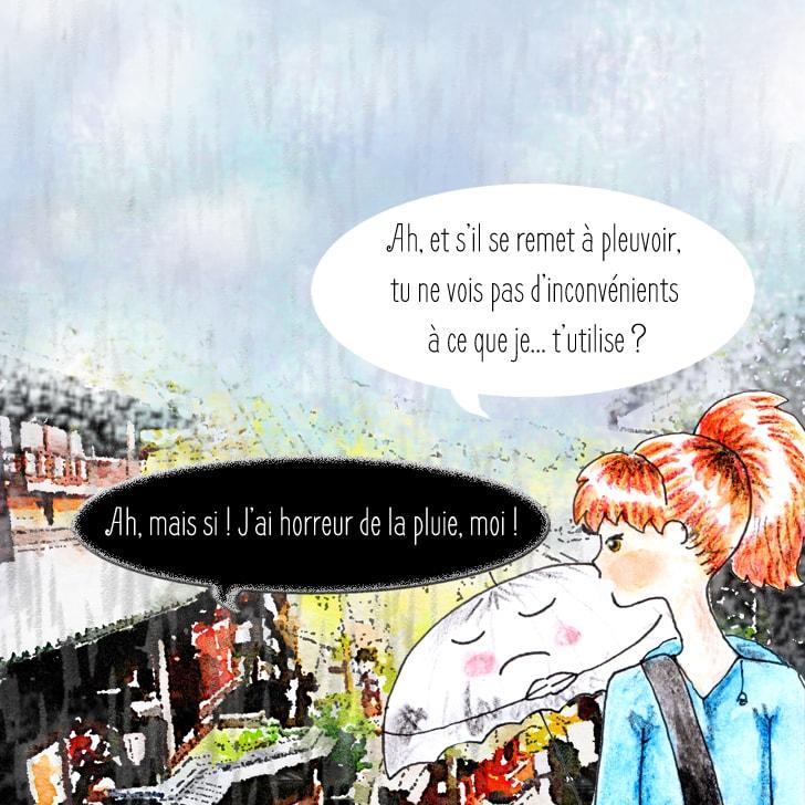 Le parapluie fantôme déteste la pluie