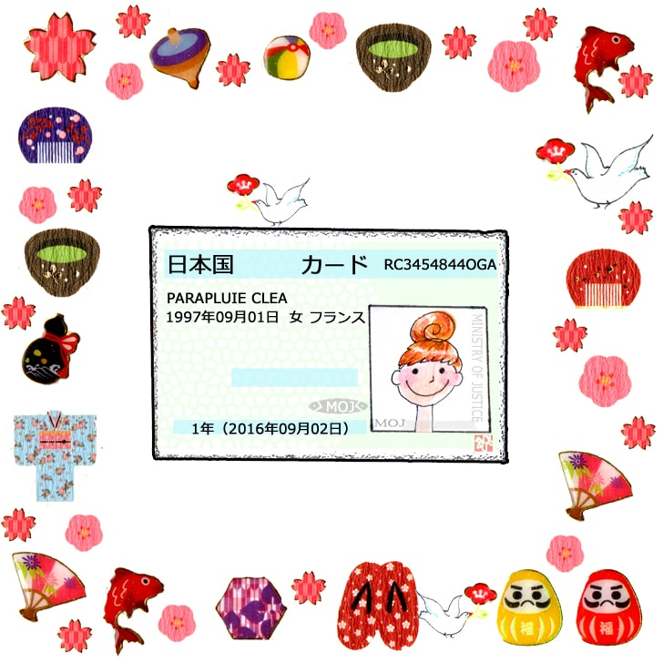 Carte de séjour, gaikokujin torokushô
