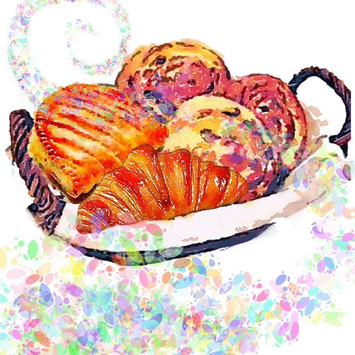 Les pains au raisin et les croissants sentent bon