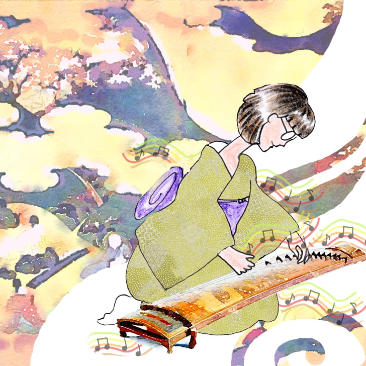 Mori Kaname, une musicienne et sprécialiste du kimono